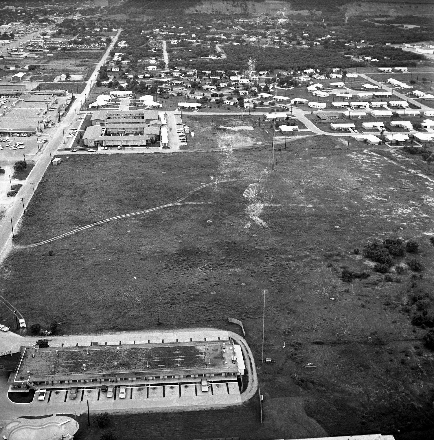 [An Aerial View Of Mineral Wells From The East 1967]