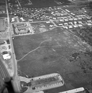Primary view of object titled '[An Aerial View of Mineral Wells From the East, 1967]'.