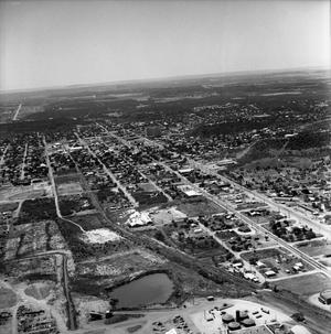 [An Aerial View of Mineral Wells From the South-Southeast, 1967]