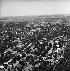 [An Aerial View of Mineral Wells From the Northwest, 1967]