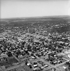 Primary view of object titled '[An Aerial View of Mineral Wells From the Southeast, 1967]'.