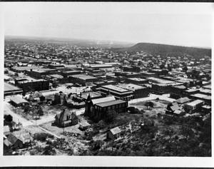 Primary view of object titled '[A View of Mineral Wells from East Mountain]'.