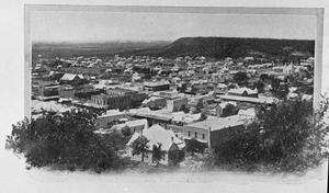 Primary view of object titled '[Photograph of Mineral Wells from East Mountain]'.