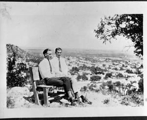 Primary view of object titled 'Two  Men at Inspiration Point'.