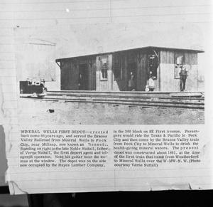 Primary view of object titled '[The Gulf and Brazos Valley Railroad Depot]'.