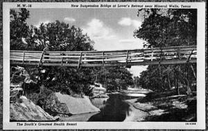 Primary view of object titled '[Photograph of New Suspension Bridge at Lover's Retreat]'.