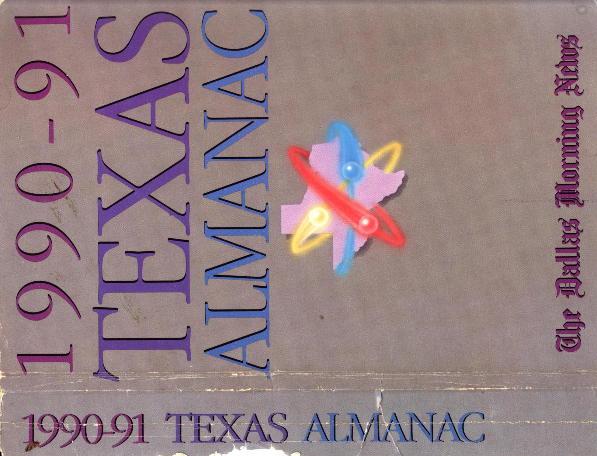 Texas Almanac, 1990-1991                                                                                                      Front Cover