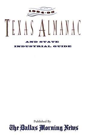 Primary view of object titled 'Texas Almanac, 1994-1995'.