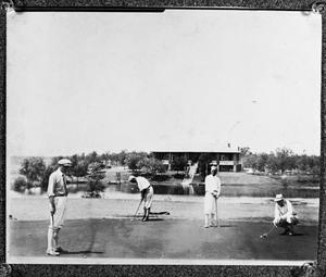 [Four golfers at Mineral Wells Country Club - 1930's]