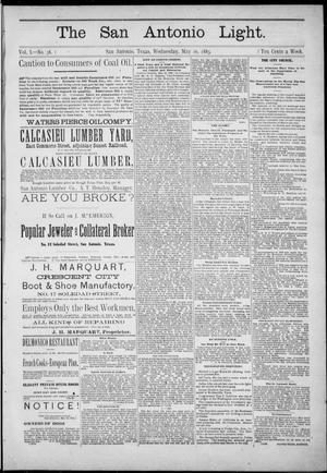 Primary view of The San Antonio Light (San Antonio, Tex.), Vol. 1, No. 38, Ed. 1, Wednesday, May 16, 1883