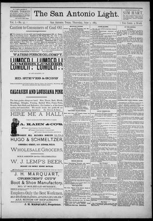 Primary view of The San Antonio Light (San Antonio, Tex.), Vol. 1, No. 57, Ed. 1, Thursday, June 7, 1883