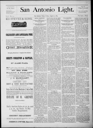 The San Antonio Light (San Antonio, Tex.), Vol. 1, No. 113, Ed. 1, Friday, August 10, 1883
