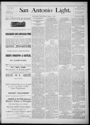 The San Antonio Light (San Antonio, Tex.), Vol. 1, No. 115, Ed. 1, Monday, August 13, 1883