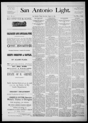 The San Antonio Light (San Antonio, Tex.), Vol. 1, No. 120, Ed. 1, Saturday, August 18, 1883