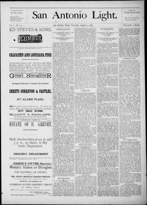 The San Antonio Light (San Antonio, Tex.), Vol. 1, No. 124, Ed. 1, Thursday, August 23, 1883