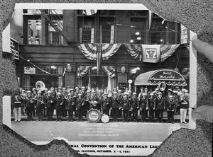 Primary view of object titled 'The American Legion Drum and Bugle Corp at their 1933 Convention in Chicago'.