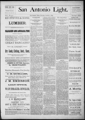 The San Antonio Light (San Antonio, Tex.), Vol. 1, No. 174, Ed. 1, Saturday, October 20, 1883