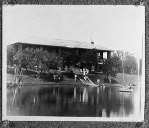 Primary view of object titled '[The Mineral Wells Golf Country Club and Lake]'.