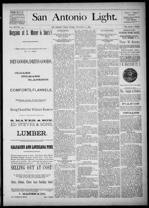 Primary view of The San Antonio Light (San Antonio, Tex.), Vol. 3, No. 197, Ed. 1, Friday, November 16, 1883