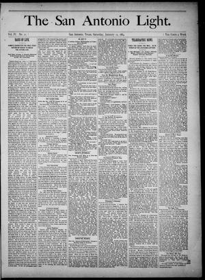 The San Antonio Light (San Antonio, Tex.), Vol. 4, No. 11, Ed. 1, Saturday, January 12, 1884