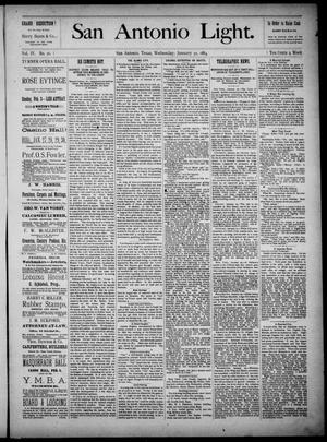 The San Antonio Light (San Antonio, Tex.), Vol. 4, No. 26, Ed. 1, Wednesday, January 30, 1884