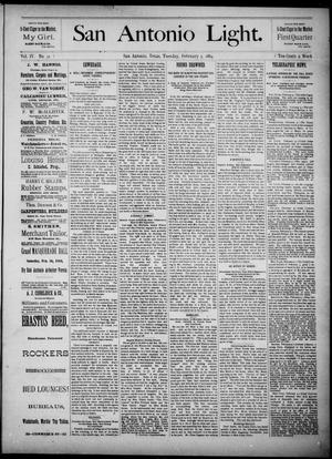 The San Antonio Light (San Antonio, Tex.), Vol. 4, No. 31, Ed. 1, Tuesday, February 5, 1884