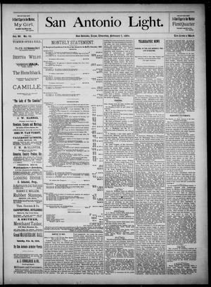 The San Antonio Light (San Antonio, Tex.), Vol. 4, No. 33, Ed. 1, Thursday, February 7, 1884