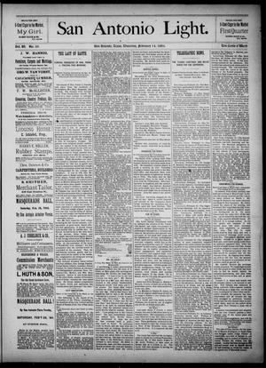 The San Antonio Light (San Antonio, Tex.), Vol. 4, No. 39, Ed. 1, Thursday, February 14, 1884