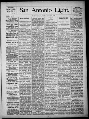 The San Antonio Light (San Antonio, Tex.), Vol. 4, No. 41, Ed. 1, Saturday, February 16, 1884