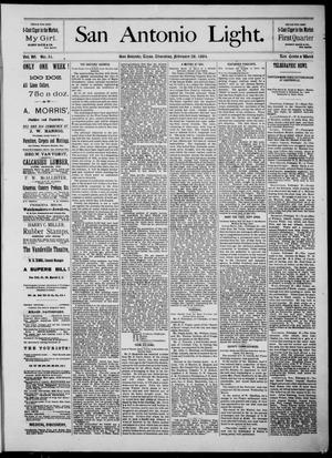 The San Antonio Light (San Antonio, Tex.), Vol. 4, No. 51, Ed. 1, Thursday, February 28, 1884