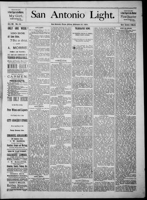 The San Antonio Light (San Antonio, Tex.), Vol. 4, No. 52, Ed. 1, Friday, February 29, 1884