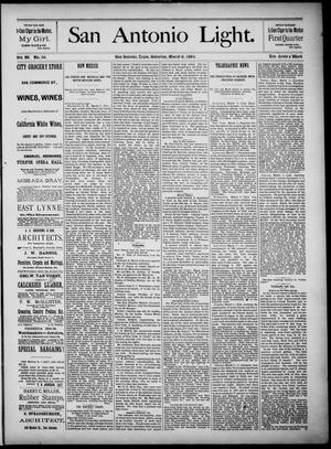 The San Antonio Light (San Antonio, Tex.), Vol. 4, No. 59, Ed. 1, Saturday, March 8, 1884