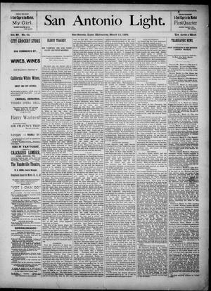 The San Antonio Light (San Antonio, Tex.), Vol. 4, No. 62, Ed. 1, Wednesday, March 12, 1884