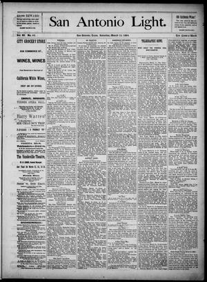 The San Antonio Light (San Antonio, Tex.), Vol. 4, No. 65, Ed. 1, Saturday, March 15, 1884