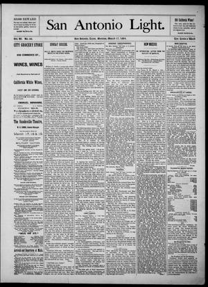 The San Antonio Light (San Antonio, Tex.), Vol. 4, No. 66, Ed. 1, Monday, March 17, 1884