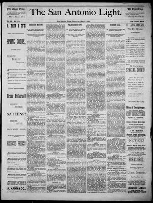 The San Antonio Light (San Antonio, Tex.), Vol. 4, No. 111, Ed. 1, Thursday, May 8, 1884