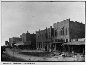 Primary view of object titled '[Mesquite Street, Looking South]'.