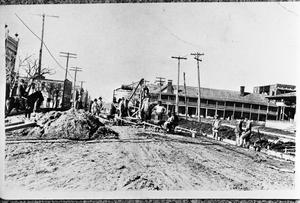 Primary view of object titled '[Paving East Hubbard Street in Mineral Wells]'.