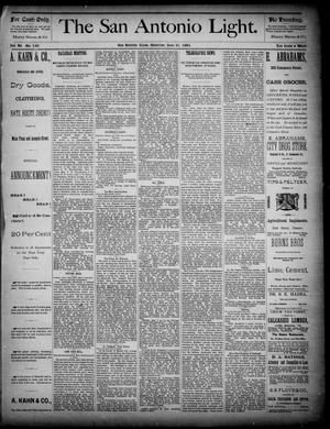 The San Antonio Light (San Antonio, Tex.), Vol. 4, No. 149, Ed. 1, Saturday, June 21, 1884
