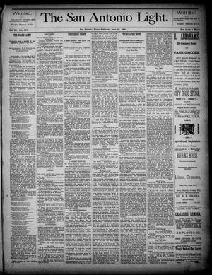 The San Antonio Light (San Antonio, Tex.), Vol. 4, No. 155, Ed. 1, Saturday, June 28, 1884
