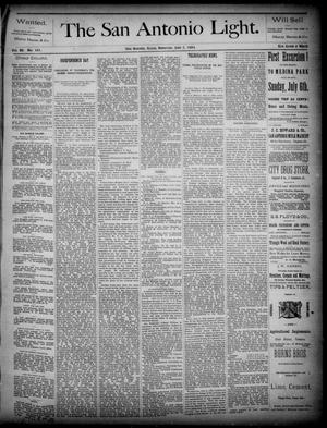 The San Antonio Light (San Antonio, Tex.), Vol. 4, No. 161, Ed. 1, Saturday, July 5, 1884