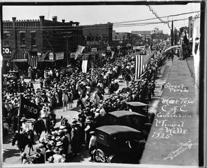 Primary view of object titled 'Street Parade / West Texas C. of C. Convention / Mineral Wells 1925'.