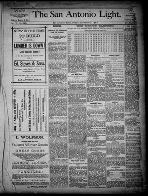 The San Antonio Light (San Antonio, Tex.), Vol. 4, No. 268, Ed. 1, Friday, November 7, 1884