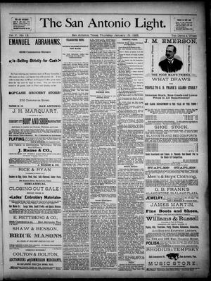 The San Antonio Light (San Antonio, Tex.), Vol. 5, No. 12, Ed. 1, Thursday, January 15, 1885