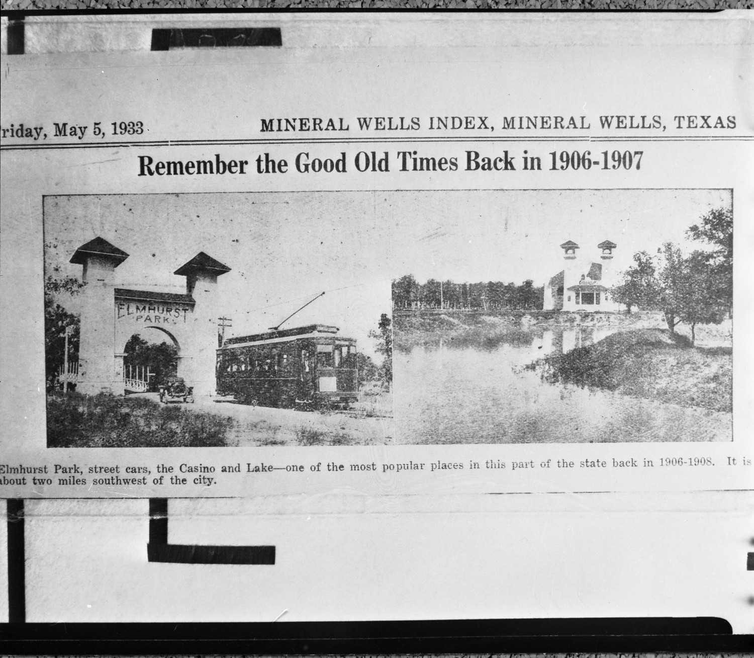 remember the good old times back in 1906 1907 newspaper article the portal to texas history. Black Bedroom Furniture Sets. Home Design Ideas