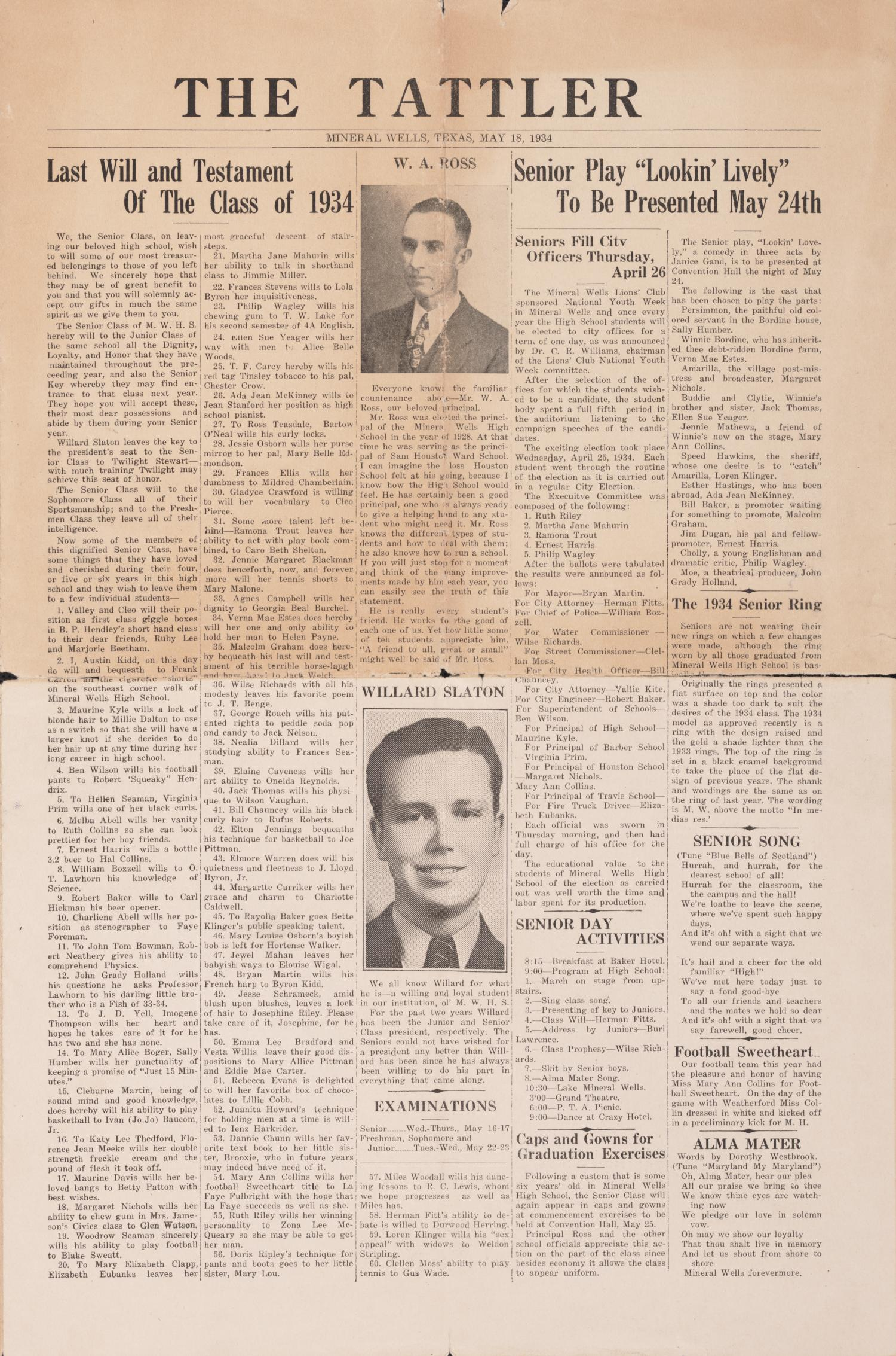 The Tattler, May 18, 1934                                                                                                      [Sequence #]: 1 of 4