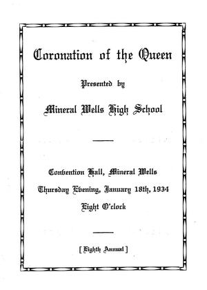 A Program for the Coronation of the Queen at MWHS, 1934