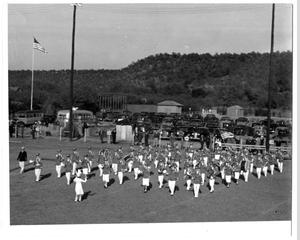 Primary view of object titled '[The Mineral Wells High School Marching Band]'.