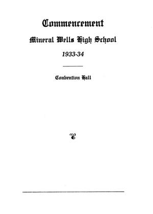Primary view of object titled '[A Program for Mineral Wells High School Commencement 1934]'.