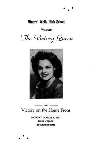 "Primary view of object titled 'A Program for the ""Victory Queen"" and ""Victory on the Home Front""'."